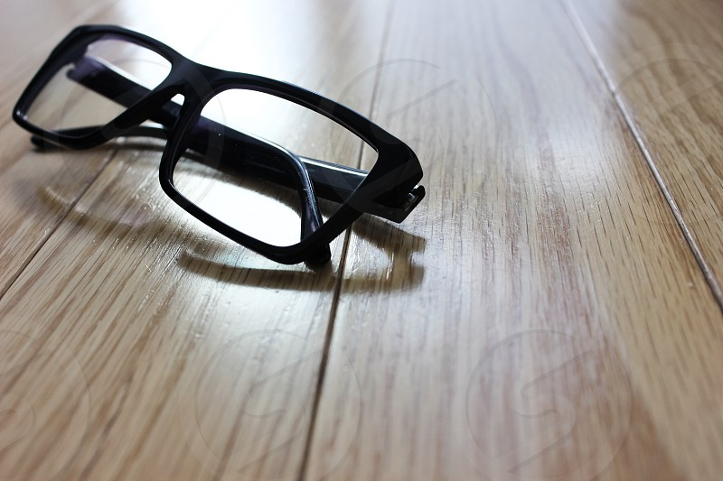 Glasses on table photo