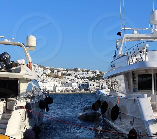 Boats Santorini photo