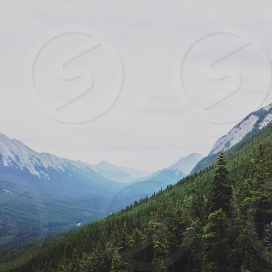 snow-capped mountain range photo