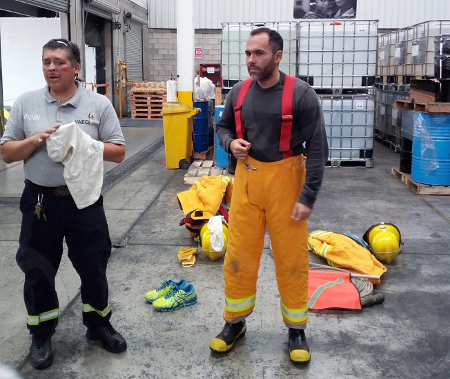 Fireman working photo