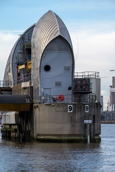 View of the Thames Barrier photo