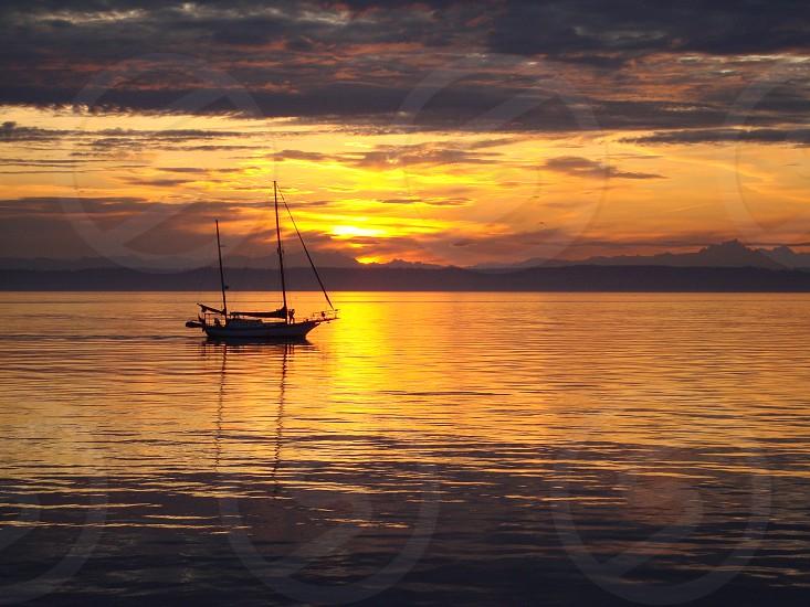 sunrise sunset port jefferson sailing solitude boating sailboat water sky inspirational peace photo
