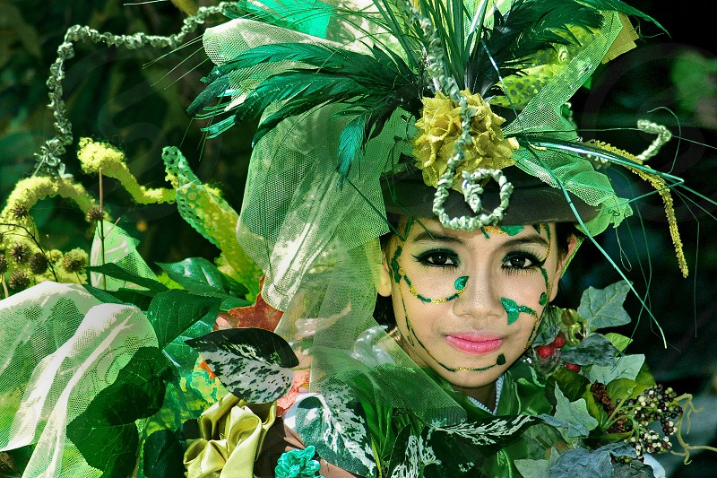 Creative costum for carnival parade at Kuta Carnival Bali photo