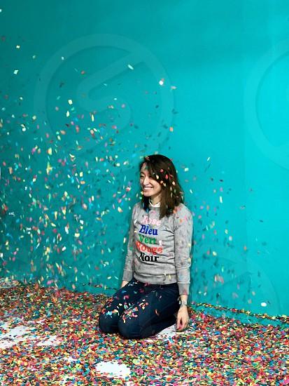 Woman confetti  photo