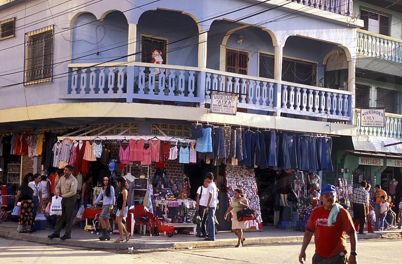 the city of Tela near San Pedro Sula on the caribian sea in Honduras in Central America photo
