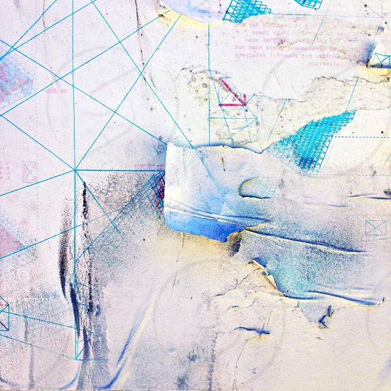 white and blue abstract painting photo