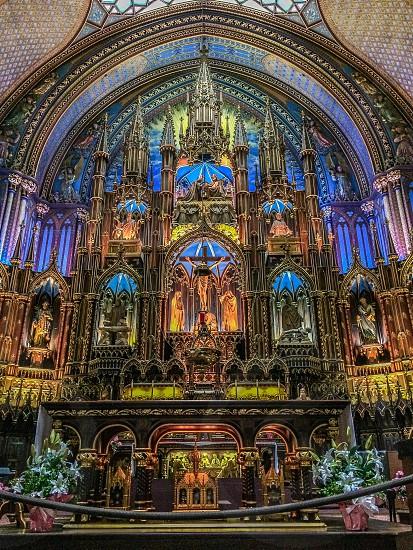 Notre Dame Canada Montréal church cathedral catholic photo