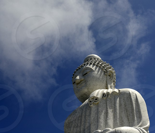 the big Buddha at the Wat Chalong on the Phuket Island in the south of Thailand in Southeastasia. photo