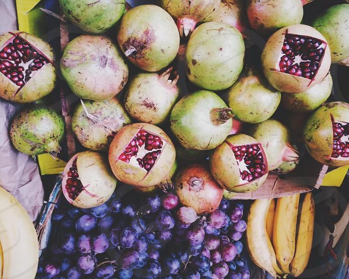 green pomegranates photo