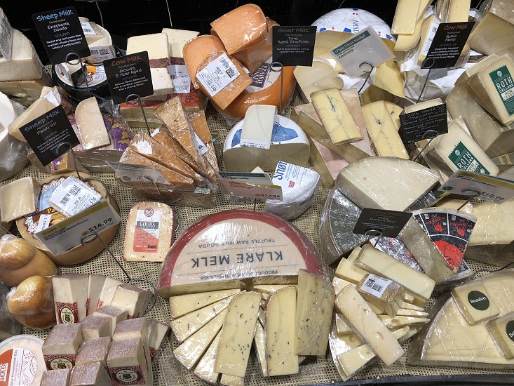 Cheese overload; cheesy; shopping; grocery store  photo