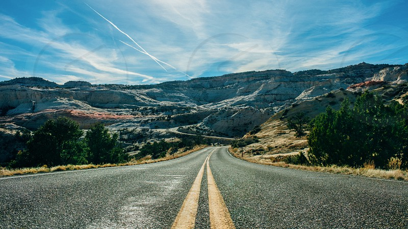 Scenic Byway 12 approaching Grand Staircase-Escalante National Monument Utah USA photo