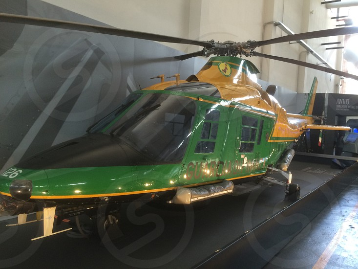helicopter of the financial police museum milan Italy photo