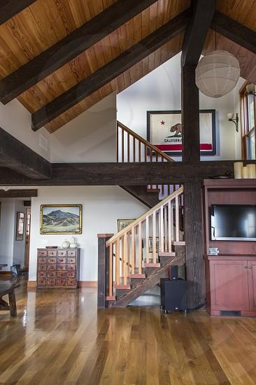 house home interior wooden design California architecture empty open photo