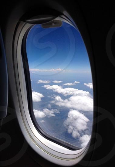gray aircraft window photo