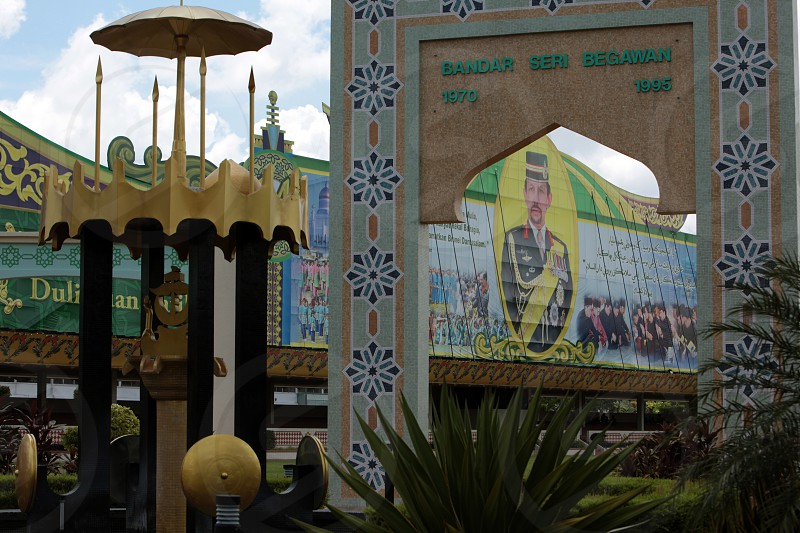 a pictures of Sultan Hassan al Bolkiah in the city centre in the city of Bandar seri Begawan in the country of Brunei Darussalam on Borneo in Southeastasia. photo