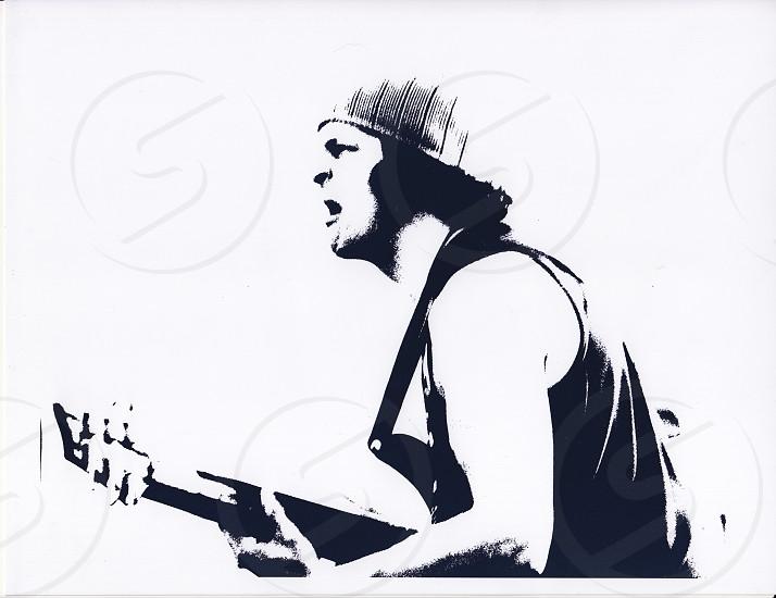Studio Musician High key black & white photo