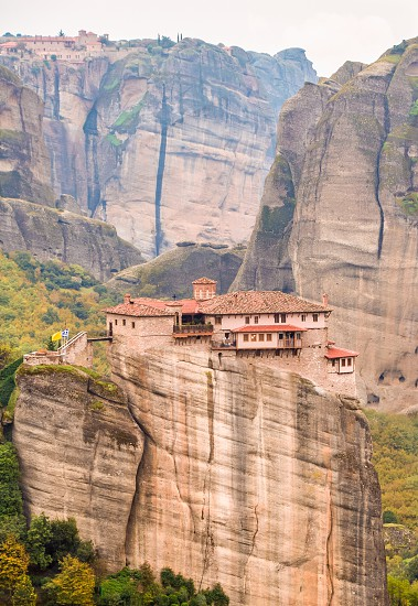 View Of Famous Meteora An Amazing Phenomenon And Monasteries Area In Greece photo