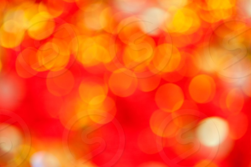 Abstract defocused blur red christmas lights background photo