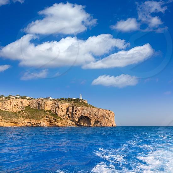 Javea Cabo de la Nao Lighthouse cape in Xabia Mediterranean Alicante at Spain photo