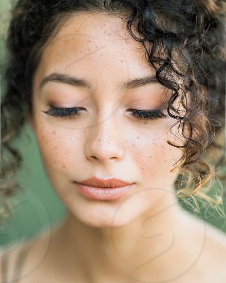 Curly hair portrait beauty  photo