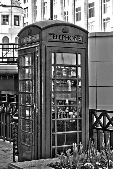 Vintage phone booth. photo
