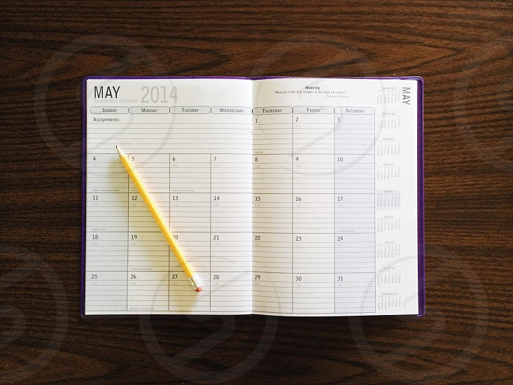 pen on may 2014 planner photo