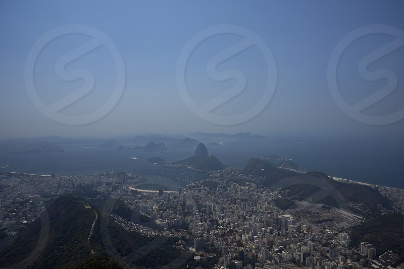 Amazing landscape view of the city of RIo de Janeiro with its beaches and bay photo