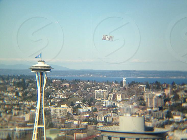 Space Needle / Seahawks enthusiasm  photo