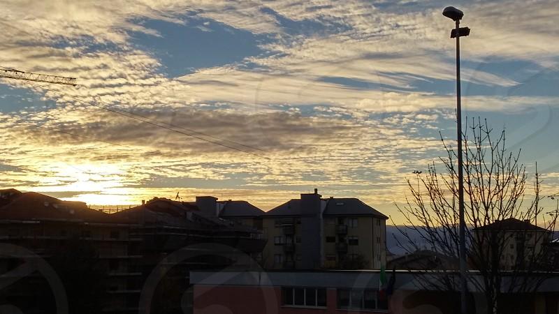 clouds sky sunset photo