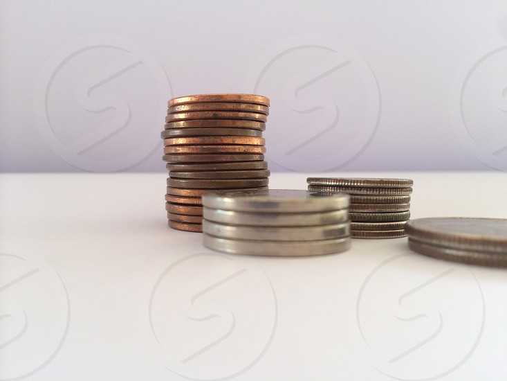 Home finance. Coins photo