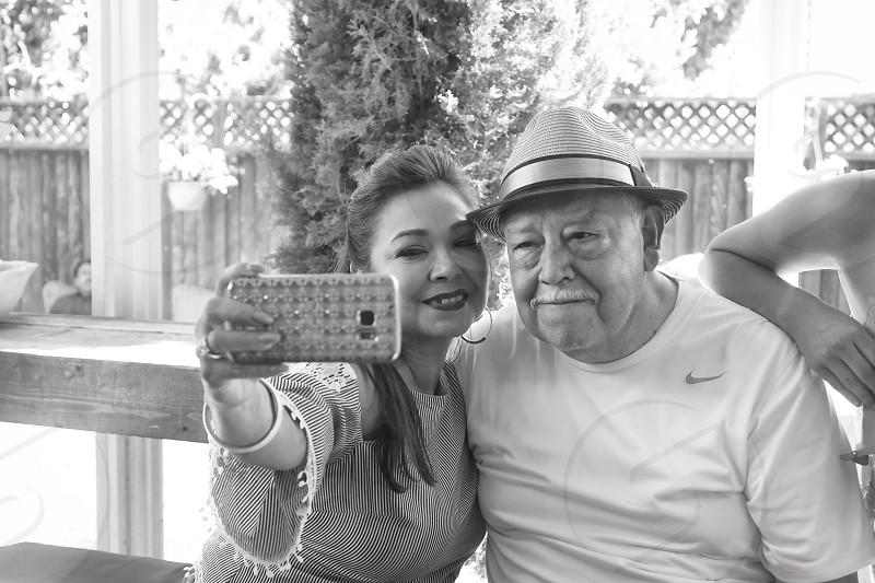 Parenthood birthday selfie generations dad uncle celebration  photo