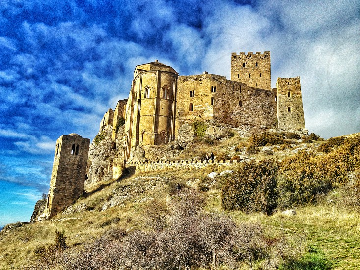 took my hertz car from london on a 8000 mole journey. this is castle loarre in spain photo