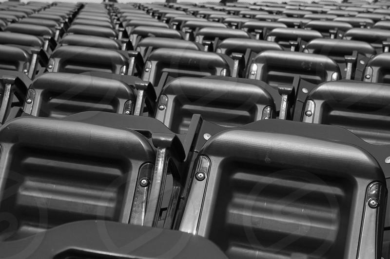 black steel chairs photo