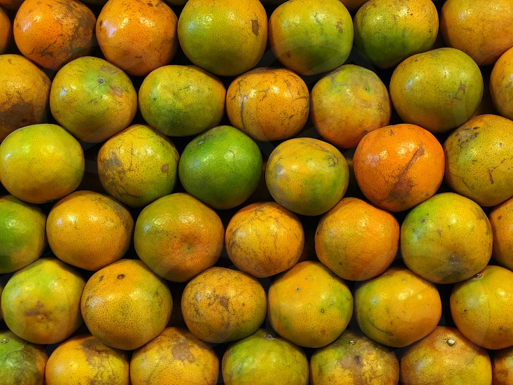 fresh orange tangerine mandarin pomelo citrus fruit sweet sour yellow market green round Valencia Chinese China Thailand photo
