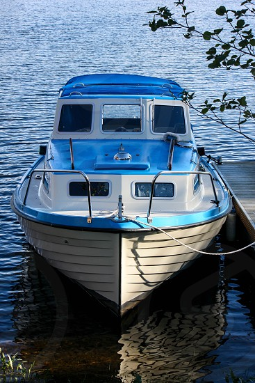 Fun boats at Langvindsbruk Sweden. A small town on the north of Sweden is a touristic destination. photo