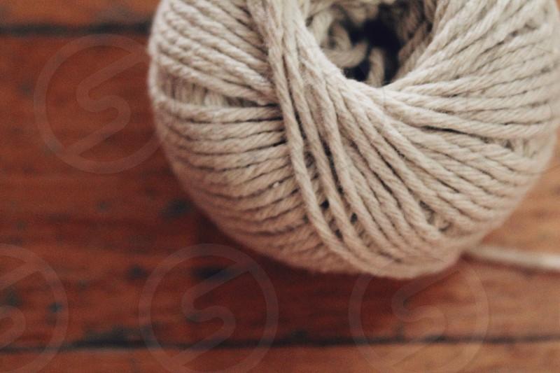 white yarn photo