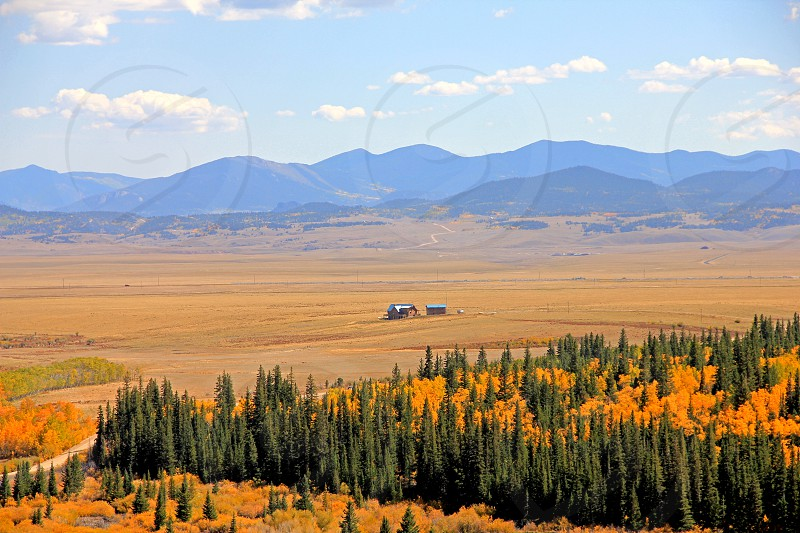 Isolated house in South Park Park County Colorado photo