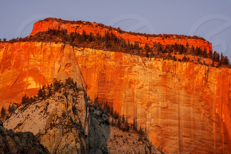 Sunrise in the Zion Mountains photo