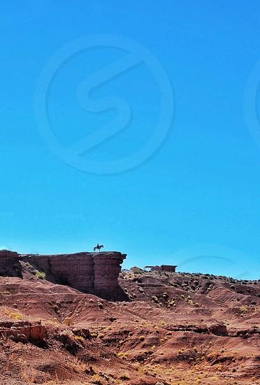 John Wayne Point; Monument Valley; Utah ; horse and rider photo