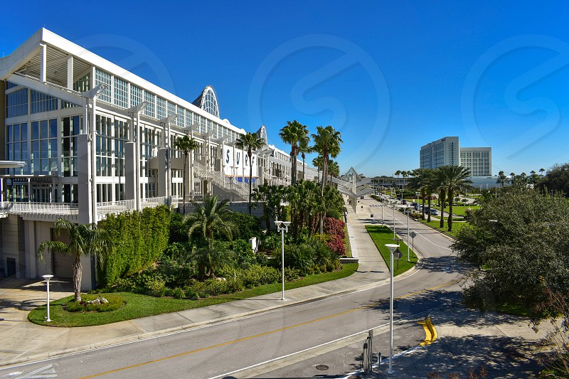 Orlando Florida. January 12 2019 Panoramic view of Orlando Convention Center at International Drive area (2) photo