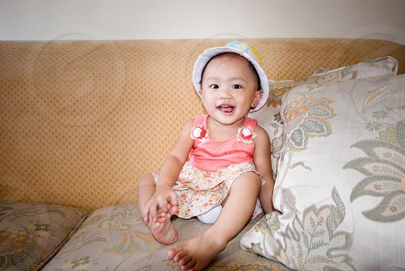 Baby tickle smile happy joy enjoy photo