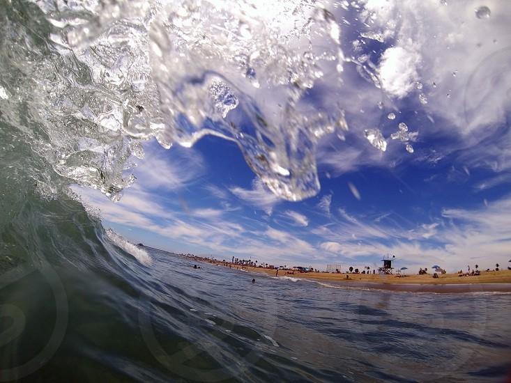 Newport Beach Southern California Wave Beach  photo