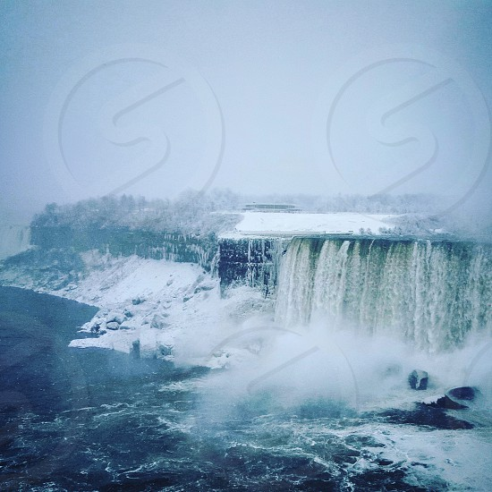 Winter day at the falls photo