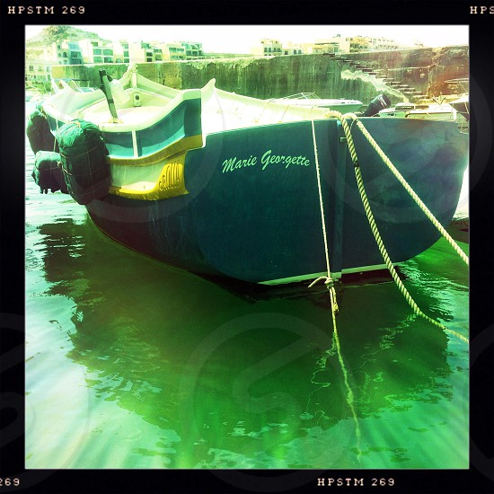 Boat in water photo
