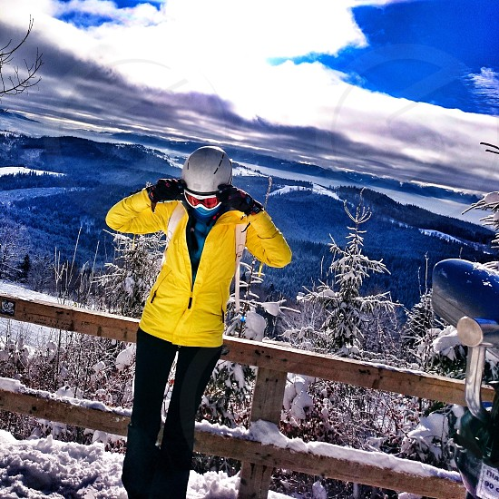 Skiing in Bukovel Carpathian Ukraine photo