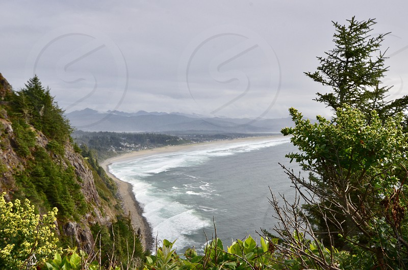Neahkahnie Mountain overlooking Manzanita Oregon Coast photo