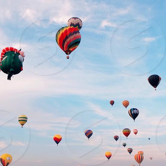 hot air balloons flying photo