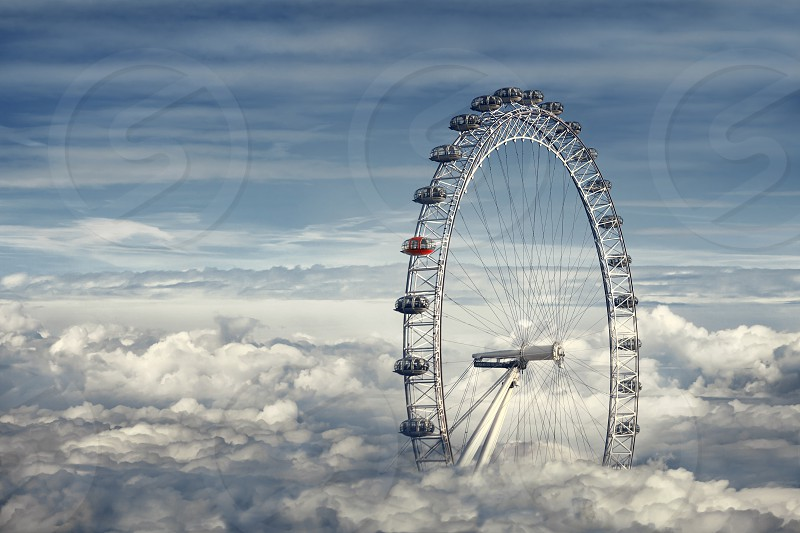 London Eye Above the Clouds photo