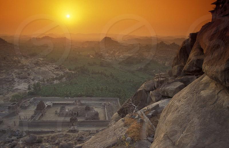 The Ruins of Hampi in the province of Karnataka in India. photo