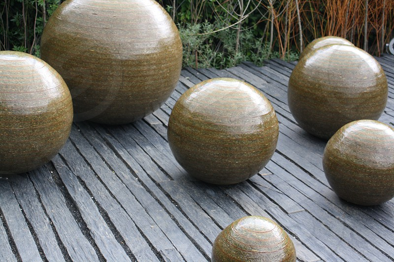 brown ball decor photo